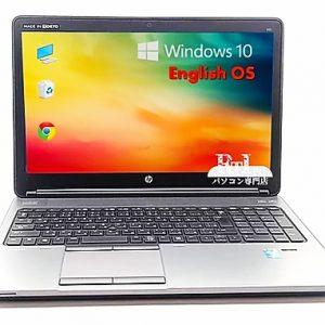中古 HP English Laptop Computer Intel Core i5-4200, 4 GB, 320 GB, Windows 10 Pro,